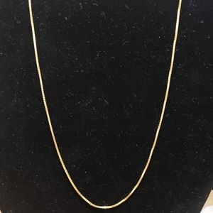 925 sterling silver gold plated necklace 20inch